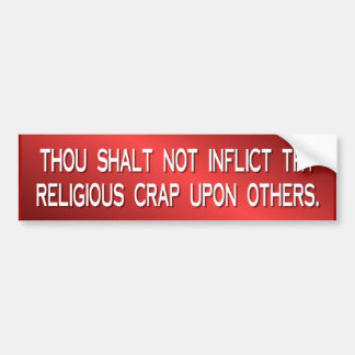 religious crap bumper sticker