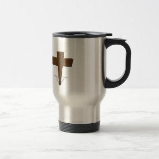 Religious Cross 15 Oz Stainless Steel Travel Mug