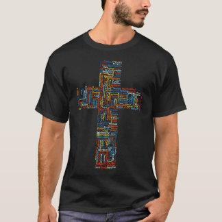 Religious Cross Typography T-Shirt