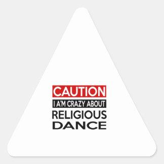 RELIGIOUS DANCE CRAZY DESIGNS TRIANGLE STICKER