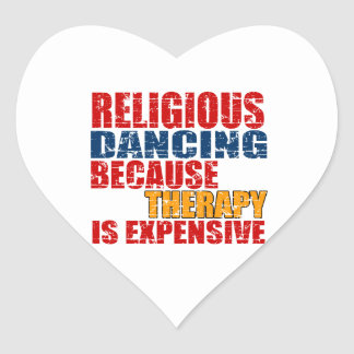 Religious Dance Designs Heart Sticker