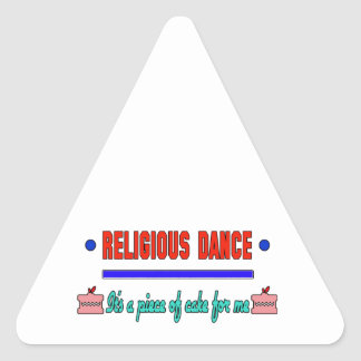 Religious dance It's a piece of cake for me Triangle Sticker