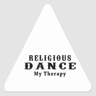 Religious Dance My Therapy Triangle Sticker