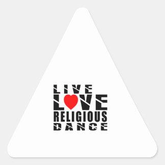 RELIGIOUS Designs Triangle Sticker