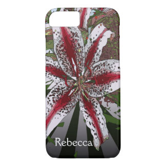 religious Easter Blessings pink oriental lily iPhone 8/7 Case