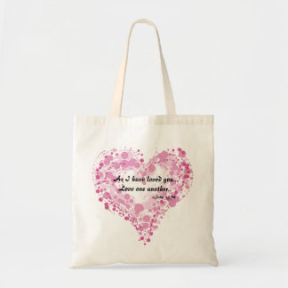 Religious Encouragement Love Quote Tote Bag