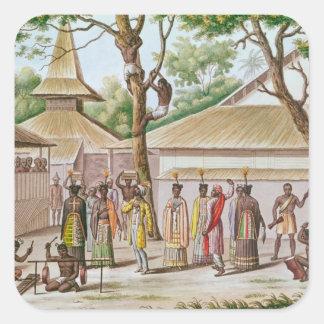 Religious Festival in Caieli, Buru Island Square Sticker