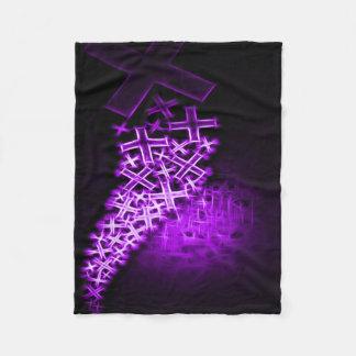 Religious Fractal Purple Fleece Blanket