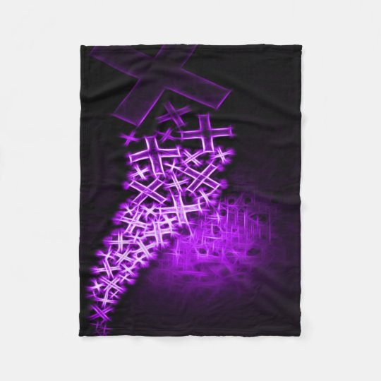 Religious Fractal Purple Fleece Blanket