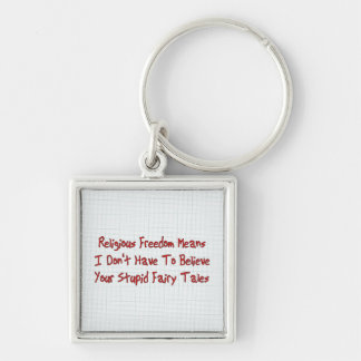 Religious Freedom Silver-Colored Square Keychain