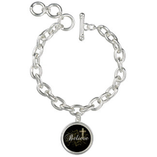 Religious gift Believe Charm bracelet