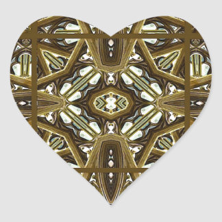 Religious Glass Artwork Mockup Heart Sticker