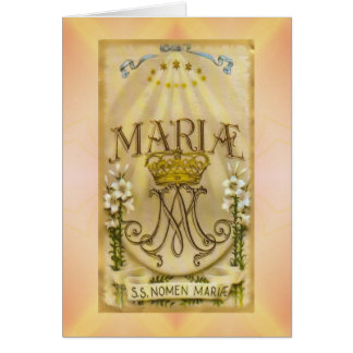 Religious Greeting Card Mary Virgin