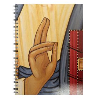 Religious Hand Signal Art Notebook