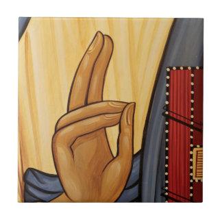 Religious Hand Signal Art Tile