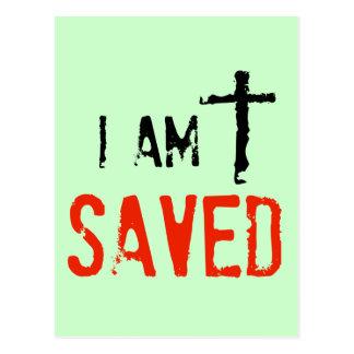 Religious I Am Saved Postcard