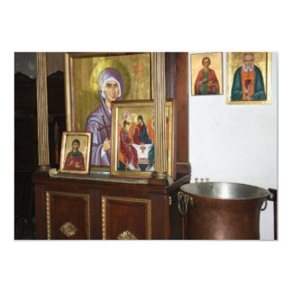 "Religious Icons Card 5"" X 7"" Invitation Card"