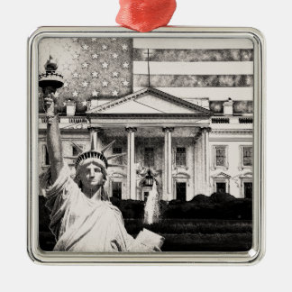 Religious Liberty In America Silver-Colored Square Ornament