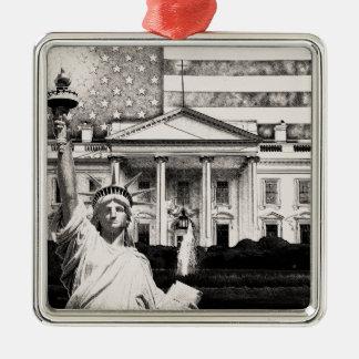Religious Liberty In America Silver-Colored Square Ornament