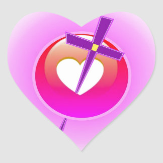 Religious Love. Heart Sticker