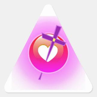 Religious Love. Triangle Sticker