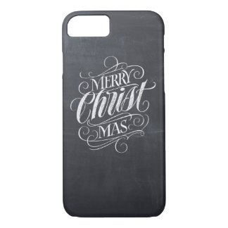 Religious Merry Christmas Chalkboard Lettering iPhone 8/7 Case