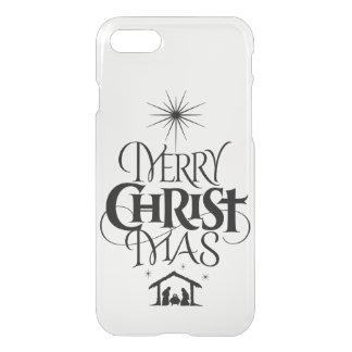 Religious Merry Christmas Christ Mas Calligraphy iPhone 8/7 Case
