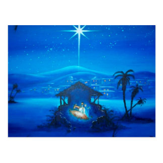 Religious Nativity Christmas postcard