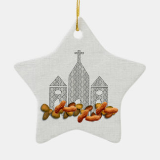 Religious Nuts Christmas Ornaments