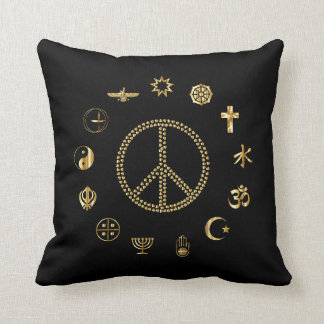 Religious Peace, Harmony and equality! Throw Pillow