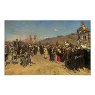 Religious Procession in Kursk Province Poster
