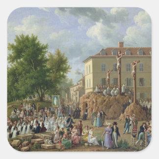 Religious Procession to Mont Valerien, 1819 Square Sticker