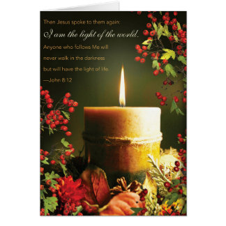 Religious quote Christmas card