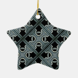Religious Stone Cross Pattern Christmas Tree Ornaments