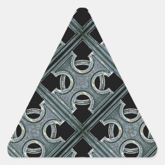 Religious Stone Cross Pattern Triangle Sticker