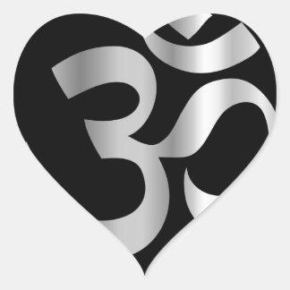 Religious Symbol of Hinduism- Pranava Heart Sticker