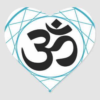 Religious Symbol of Hinduism- Pranava Heart Sticker