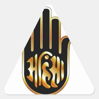 Religious Symbol of Jainism- Ahimsa Triangle Sticker