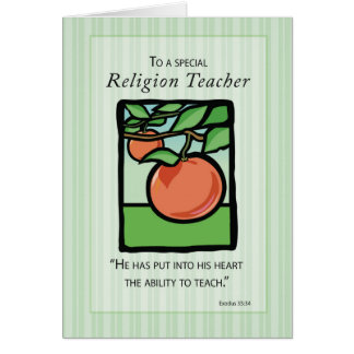 Religious Teacher Thank You, Apple Card
