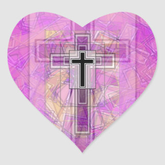 Religious Transparency. Heart Sticker