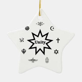 Religious Unity Ceramic Star Ornament