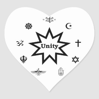 Religious Unity Heart Sticker