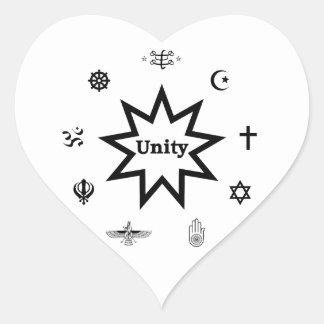Religious Unity Heart Sticker