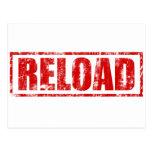 Reload! - Video Game Gamer Gaming Shoot Gun Postcard