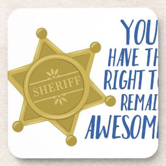 Remain Awesome Beverage Coaster