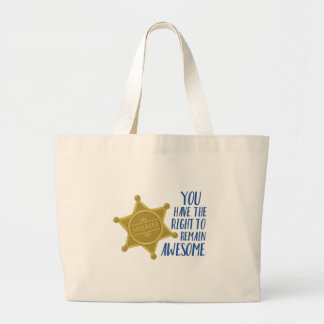 Remain Awesome Large Tote Bag