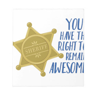 Remain Awesome Notepad