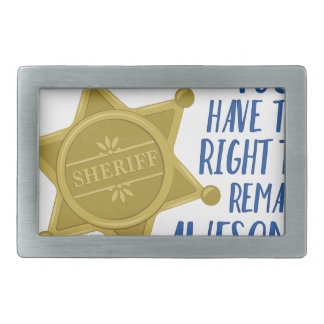 Remain Awesome Rectangular Belt Buckle