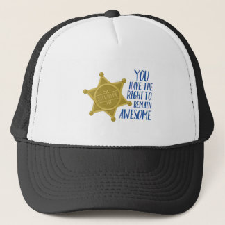 Remain Awesome Trucker Hat
