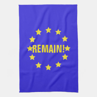 """""""Remain!"""" EU Flag/Brexit Tea Towel"""